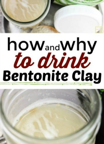 jar of bentonite clay in water to drink