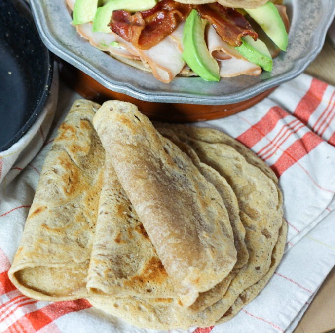 These tortillas are delicious! They're actually a little bit sweet! (I love this flour!!) ~ Tigernut Flour Tortillas {Paleo, AIP, egg-free, nut-free, no rolling out!} Yep, no rolling with these beauties, and they provide energy without any blood sugar dips. #tigernut #tigernuts #tigernutflour #aip #paleo #tortillas #grainfree #wraps #eggfree #nutfree