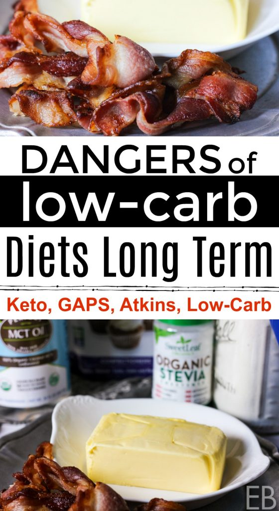 Dangers of Low-Carb Diets Long Term and ways around those risks! This post applies to Low-carb, Keto, some Paleo diets, the GAPS diet and the Atkins diet. Learn what health risks exist so you can avoid them. #lowcarb #keto #gapsdiet #atkins #health #diet #danger #wellness #diy #holistic