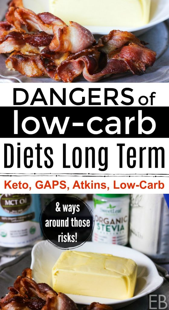 Dangers of Low-Carb Diets Long Term and ways around those risks! This post applies to Low-carb, Keto, some Paleo diets, the GAPS diet and the Atkins diet. Learn what health risks exist so you can avoid them. #lowcarb #keto #gapsdiet #atkins #health #diet #danger #wellness #diy