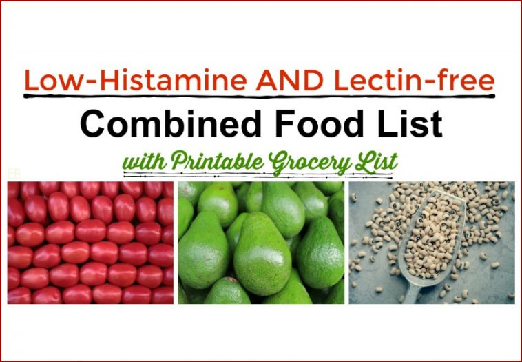 Low-Histamine AND Lectin-free Combined Food List {Grocery List with Printable!} + Chicory Breve Latte recipe! #lowhistamine #histamines #lectinfree #lowlectin #chicory #foodlist #herbalcoffee #chicorycoffee