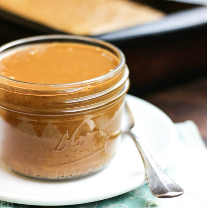 Paleo & AIP Easy Caramel Sauce ~ just 3 ingredients and 10 minutes to make!! (with Primal variation) #caramelsauce #easy #paleo #aip #coconut #primal #dairyfree #caramel