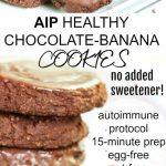stacks of aip chocolate banana cookies