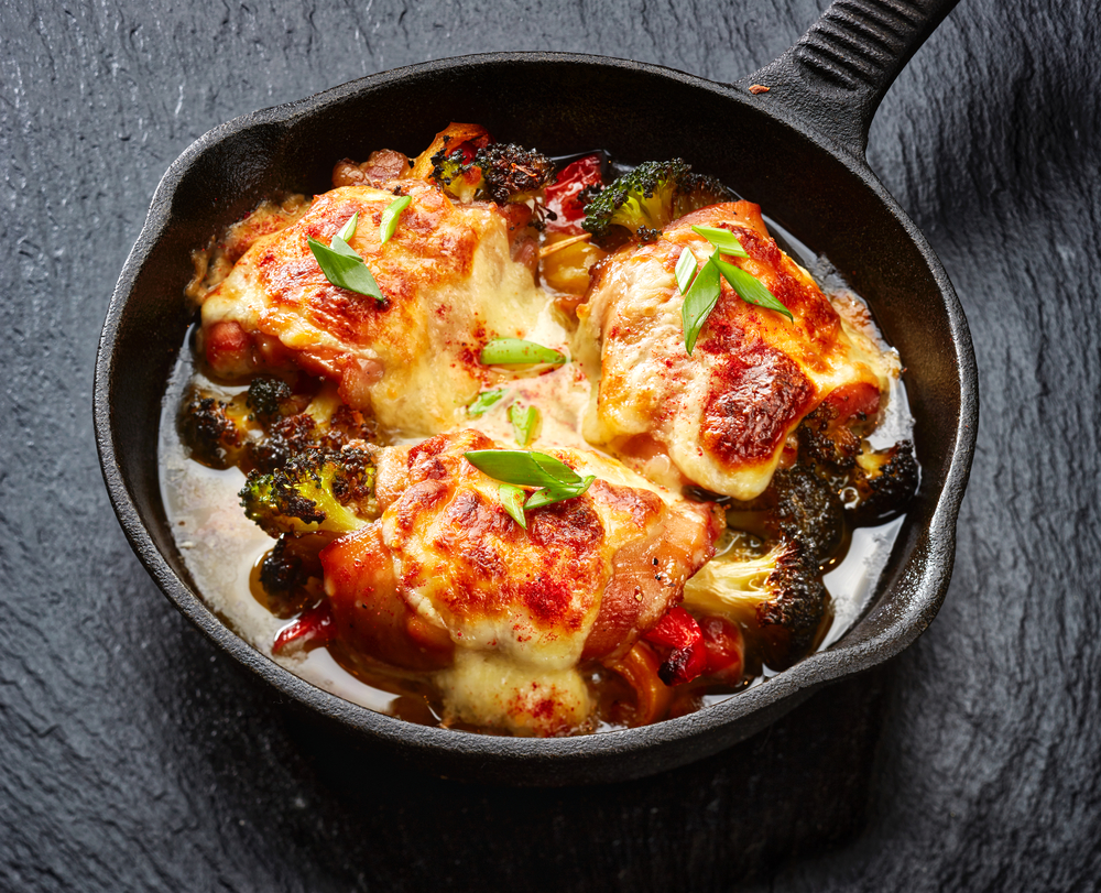 chicken covered in cheese and topped with pepperoni is one of 25+ keto budget dinner meals