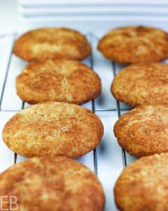 paleo aip snickerdoodles cooling on a rack