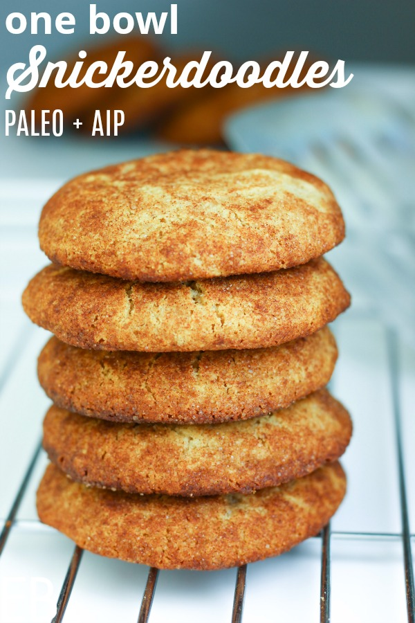 stack of paleo aip snickerdoodles