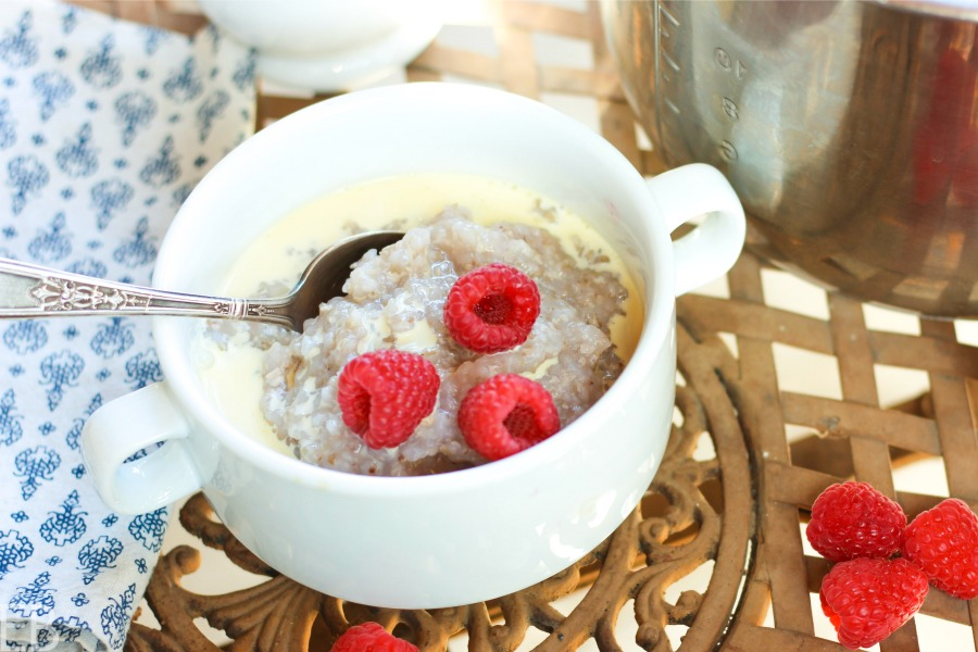bowl of instant pot buckwheat porridge