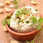 dish of fermented nut cheese