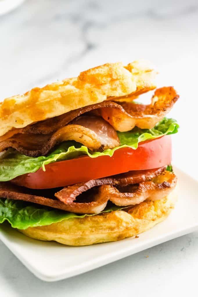 chaffle BLT sandwich