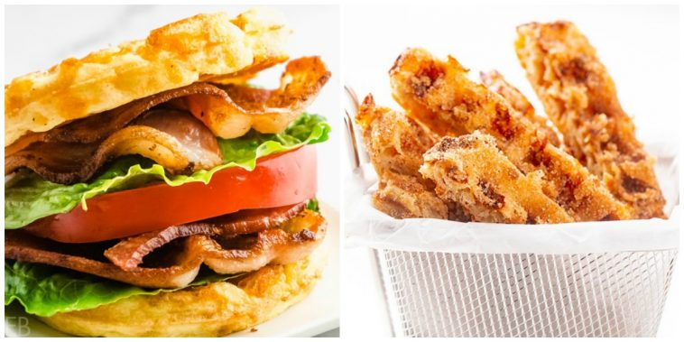 blt chaffle and churro chaffles