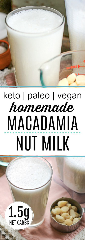 2 glasses of keto paleo macadamia nut milk