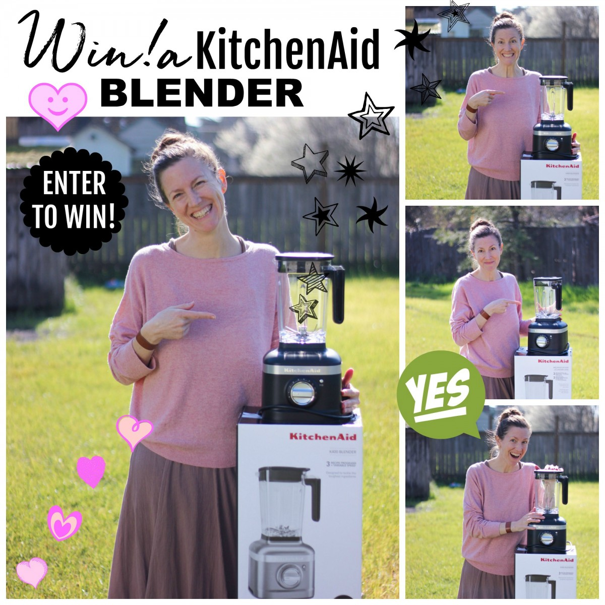 enter to win sign with me and free kitchen aid blender giveaway