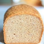cross section look inside the loaf of gluten-free rice bread