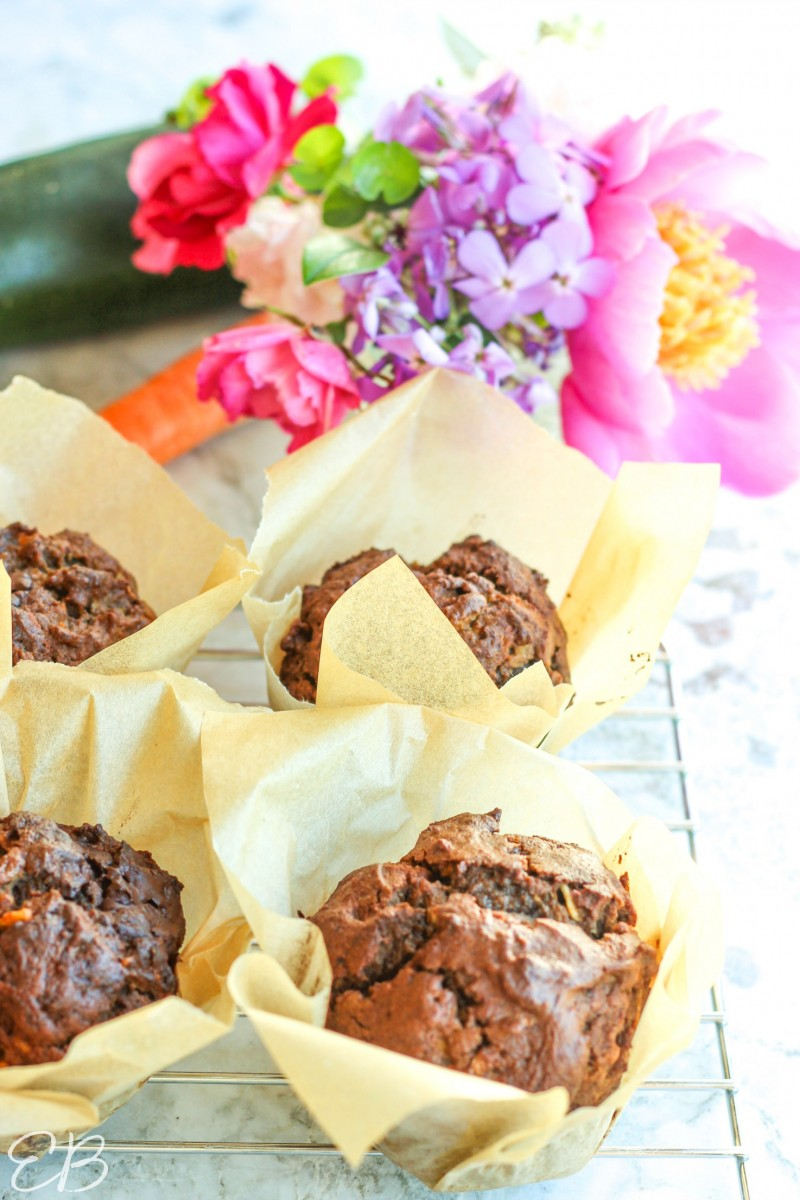 muffins and flowers in a sunny window