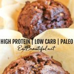three muffins in long pin image with words