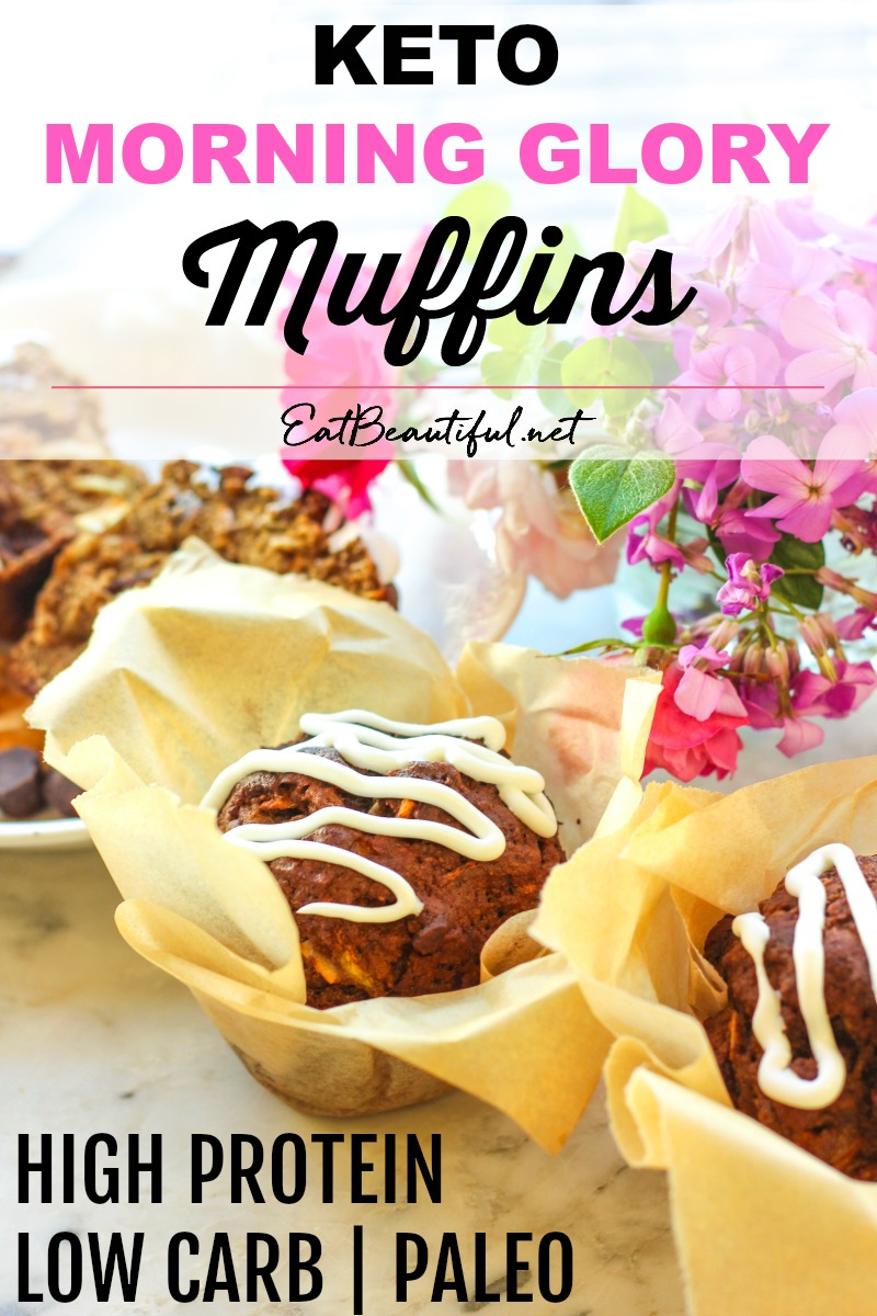 image of pink flowers and iced muffins with banner and title along the top