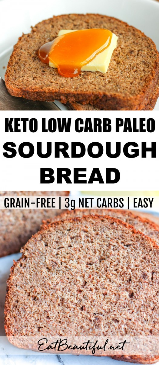 pin with keto sandwich bread slices