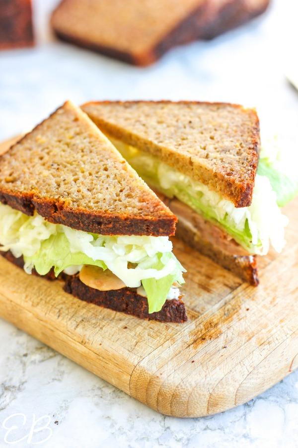 an aip sandwich cut in half