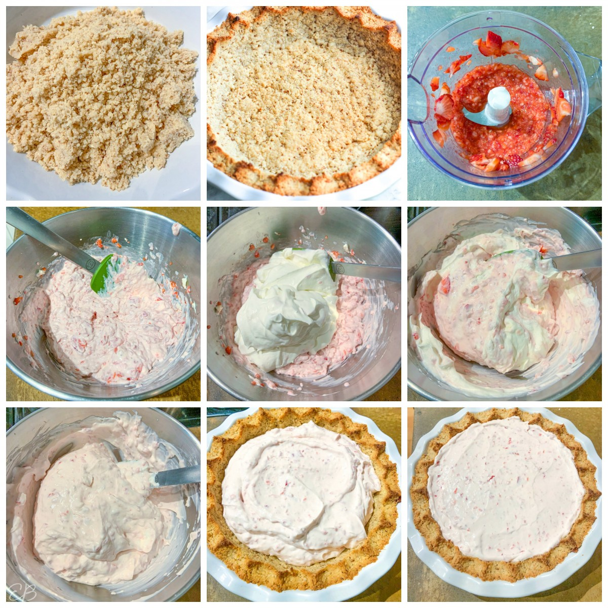 9 process photos of cream pie