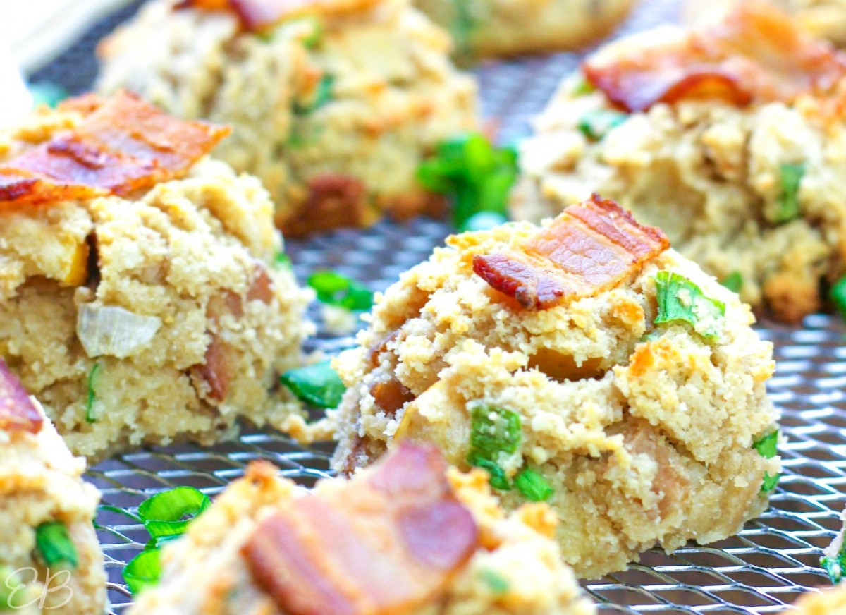 close up view of bacon aip cookies