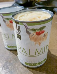 two cans of Palmini noodles