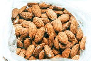 almonds in a plastic bag