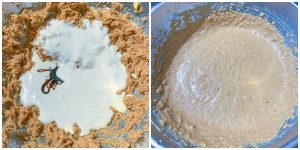 keto-apple-cake-process photos of batter being mixed