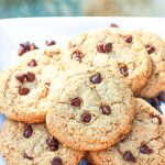plate of paleo chocolate chip cookies