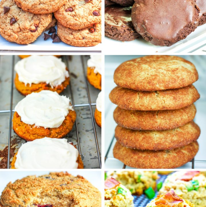 a collage of 6 AIP cookie recipes