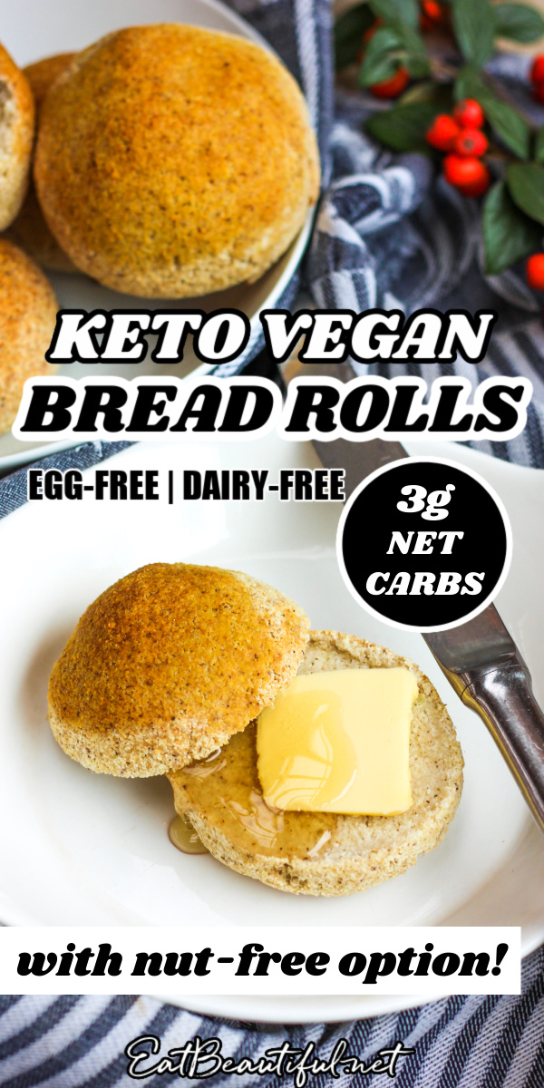 Keto Vegan Bread Rolls Gluten Free Grain Free With Nut Free Option Eat Beautiful