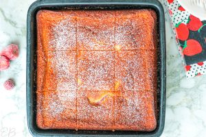 whole keto coffeecake sliced