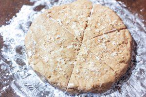 scone dough in a disc shape