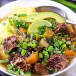 up close image of aip mexican stew