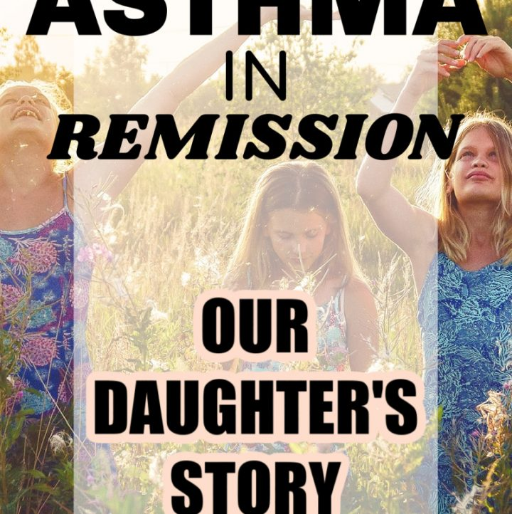 3 girls playing in a field with Asthma in Remission words over the image