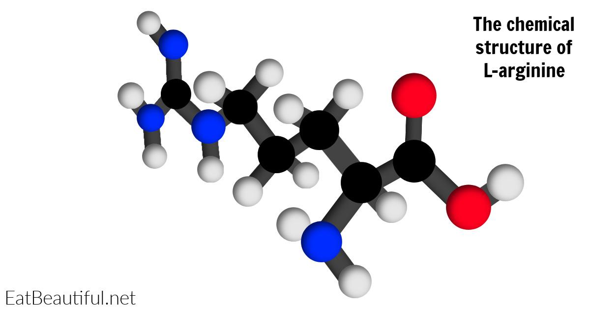 a color image of l-arginine's chemical structure