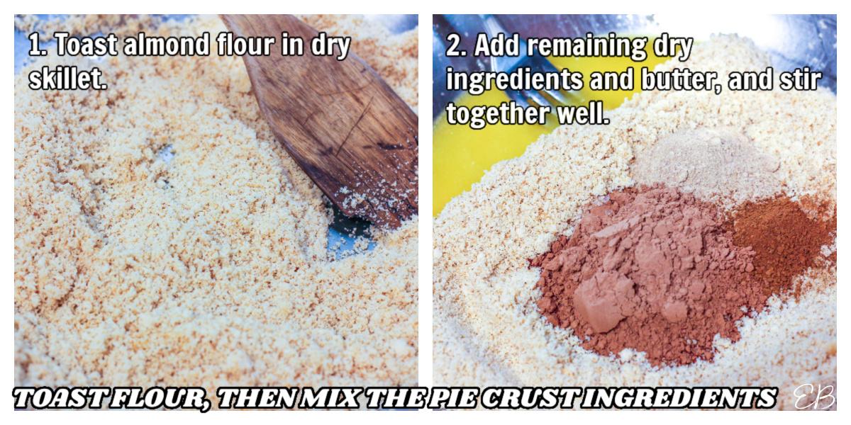 toasting almond flour in a pan process photos