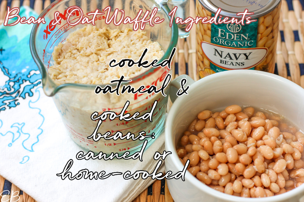 bean and oat waffles ingredients