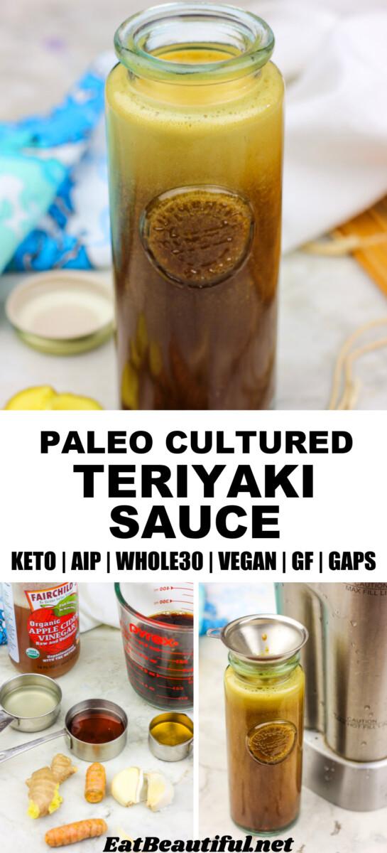 3 images of making paleo teriyaki sauce