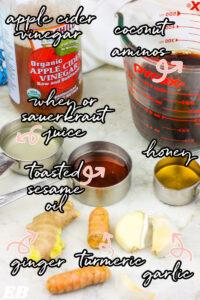 all of paleo teriyaki sauce ingredients labeled