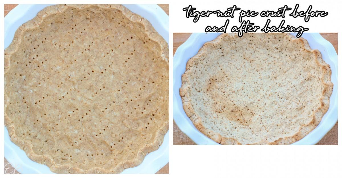 2 images of tiger nut pie crust