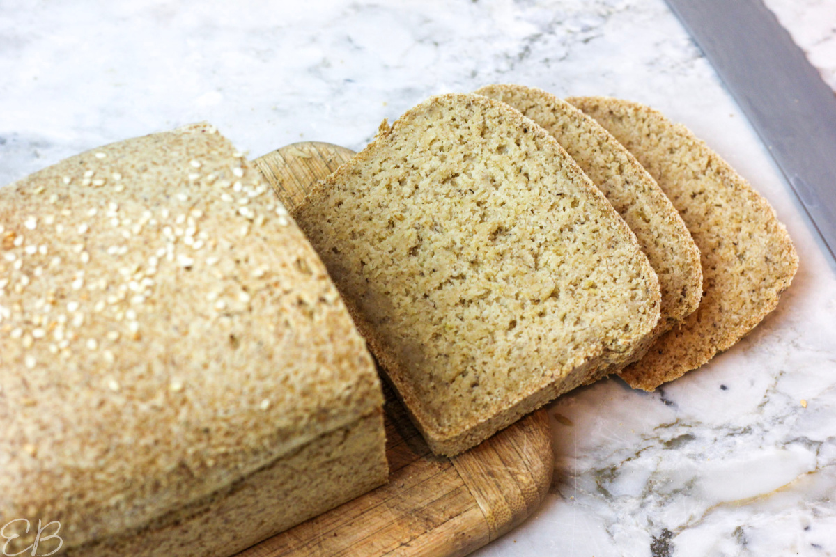 3 slices cut from oat bread loaf