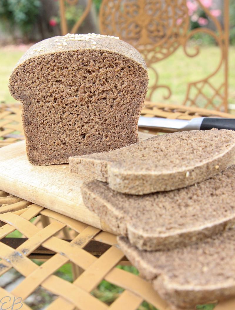 loaf of oat bread on cutting board