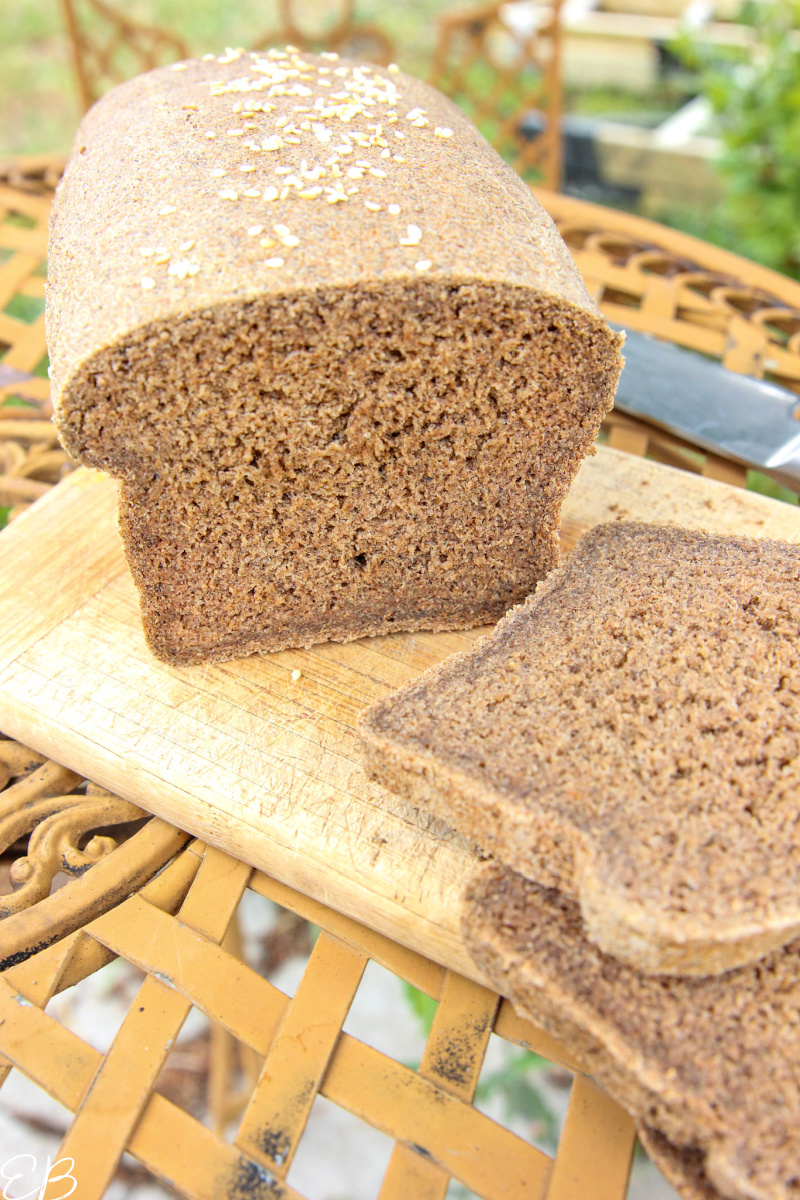 slices cut off loaf of gluten free vegan oat bread
