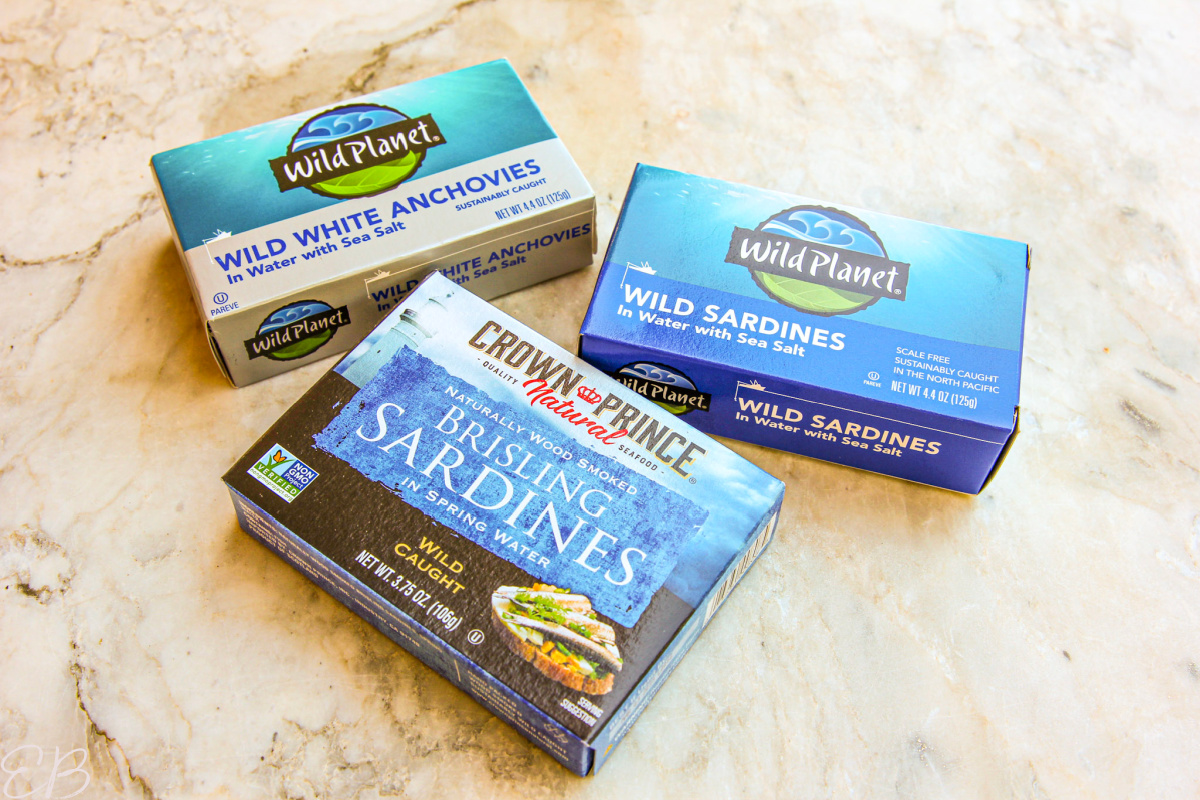 3 cans of sardines or anchovies