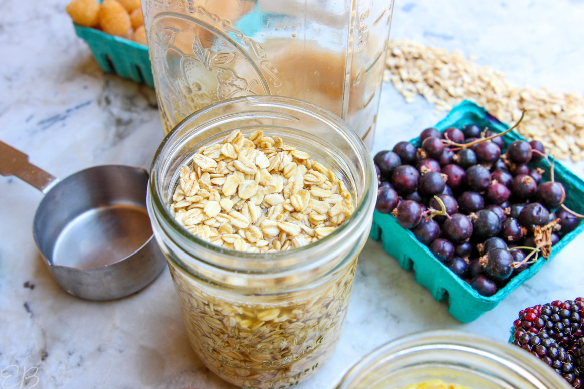 dry oats surrounded by the other ingredients