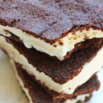 overhead view of 3 stacked paleo ice cream sandwiches