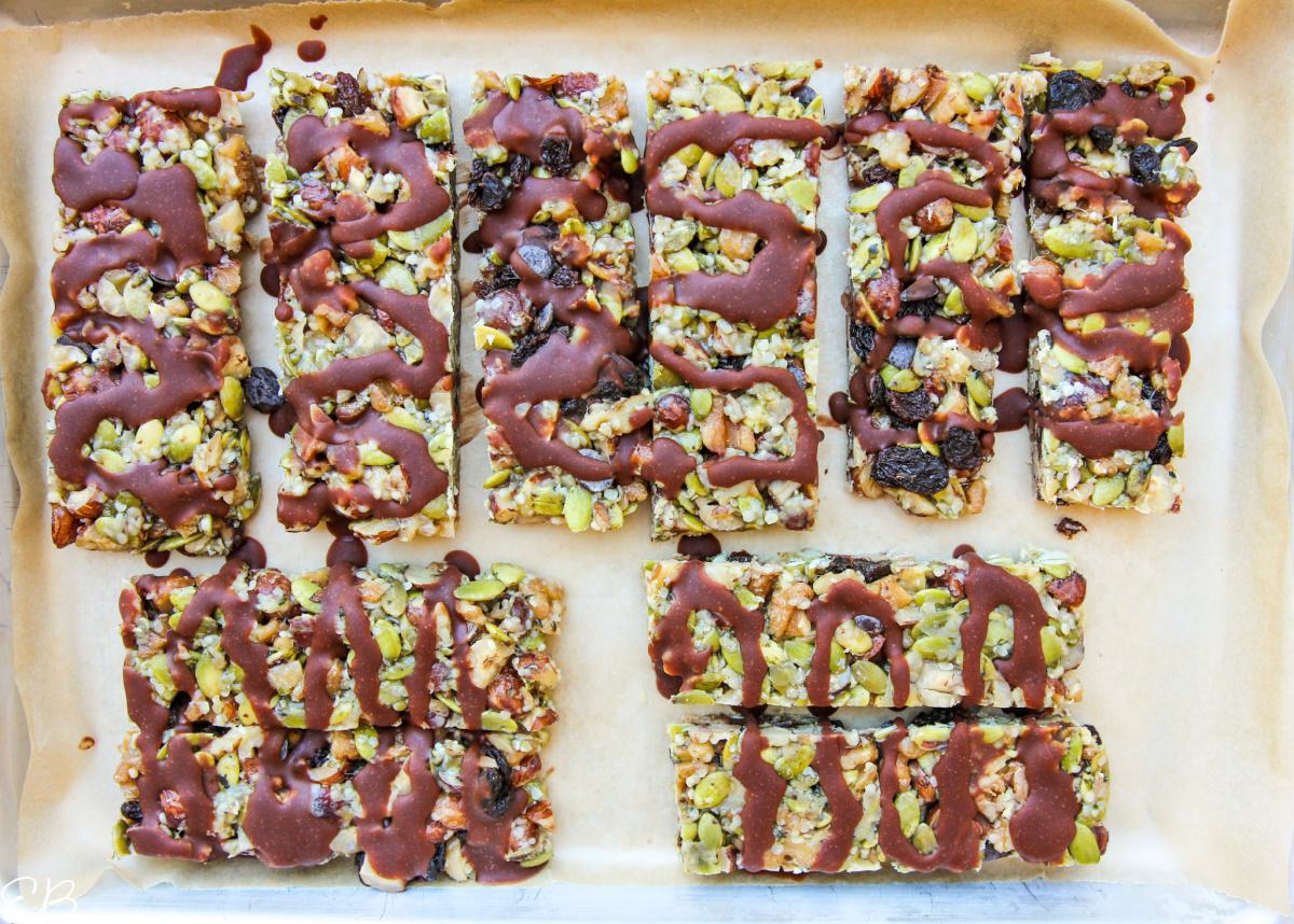 chocolate drizzle process photo