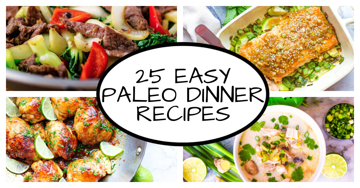4 images of paleo dinner recipes