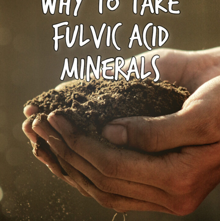 2 hands holding rich soil with article title Why to Take Fulvic Acid Minerals