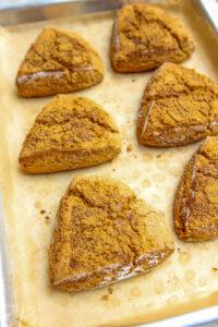 baked scones on baking sheet